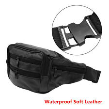 Outdoor Hiking Motorcycle Men's Vintage Leather Messenger Bag Waist Pack Pouch