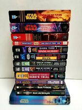 Lot of 13 Star Wars and Babylon 5 Science -Fiction Novels
