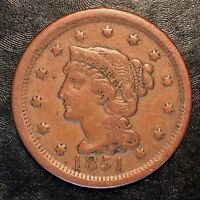 1851 Large Cent - High Quality Scans #F728