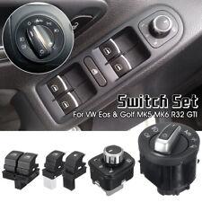 5X Fuel Headlight Mirror Window Switch For VW Passat Eos Golf R32 GTI MK5 MK6 B6