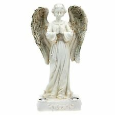 Solar Powered Beautiful Praying Angel Statue Garden Light w/ 2 Yellow LED