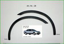 AUDI A4 B5 '94-01 Zierleisten  Radlauf Schwarz Matt  Hinten  2 Stück Satz