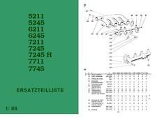 Ersatzteilliste Zetor 5211 5245 6211 6245 7211 7245 7711 7745 DDR IFA Katalog