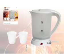 0.5 LITRE TRAVEL KETTLE CARAVAN HOLIDAY LIGHTWEIGHT DUAL VOLTAGE ELECTRIC TK1