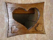 Miroir Bois Coeur romantique chalet/montagne campagne chic