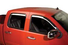 Chrome Trim Window Visors - Fits 2007-2014 GMC Sierra Standard Cab 4 Piece