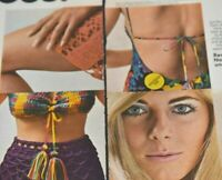 Real Girl Tussy Make-Up Cosmetics Great Undress 1968 VTG Collectible Print Ad