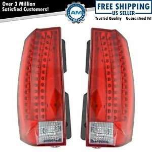 Tail Lights Taillamp Left & Right Pair Set For 2007-2014 Cadillac Escalade