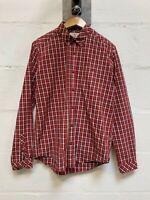 Barbour 'Beacon Brand' Shirt - Red Check Long Sleeved Medium M