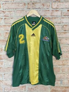 Australia 2 Kevin Muscats Match Worn Adidas 1999 Home Size Large Rare