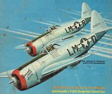 "Model Airplane Plans (UC): P-47 D Thunderbolt 42"" 1/12 Scale .29-.60 (Musciano)"