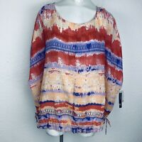 New Directions Relaxed Poncho Women Blouse. Size 2X. New With Tags