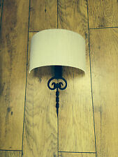 Wrought Iron British Hand Forged Single Wall Light