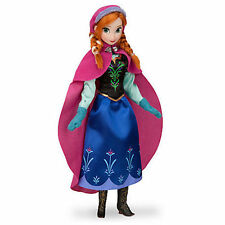"Disney Store Authentic Frozen Anna Play Toy Doll Figure 12"" New in Box"