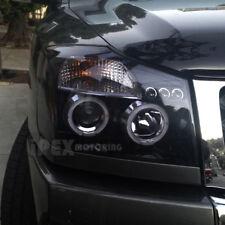 For 2004-2014 Nissan Titan & 04-07 Armada Halo Projector Black LED Headlight Set