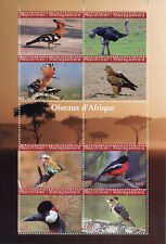 Madagascar 2019 CTO Birds of Africa Hoopoes Rollers Cranes Ostrich 8v M/S Stamps