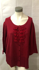 Fashion Bug Women's Red Button Up Top Size 22/24W