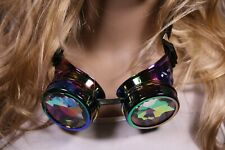Steampunk Goggles Multi Color with Kaleidoscope Lens Halloween Costume