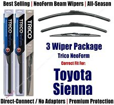 3pk Wipers Front & Rear - NeoForm - fit 1998-2003 Toyota Sienna 16240/180/30170