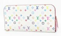 Auth LOUIS VUITTON Insolite Multicolor Canvas Pink Leather Long Wallet #32914