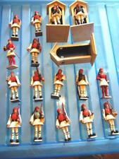 16 Qté vintage AOHNA (Grèce) plastique grec PALACE GUARDS + 3 huttes Good Cond.