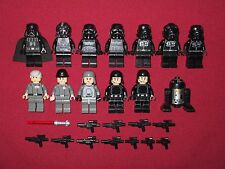 LEGO Star Wars minifigure LOT Vader,Tarkin,Veers,Tie Fighter Pilots,R2-D5 +items