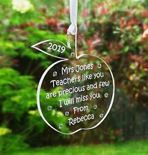 Personalised Teacher Apple Gift Decoration  inc  ***FREE GIFT BAG***