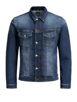 Jack Jones Mens Big King Size Classic Regular Denim Trucker Vintage Jackets