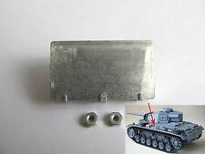 New listing Us Stock Mato 3# Mt095 German Panzer Iii 1/16 Scale Rc Tank Upper Hull Metal Box