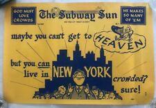 """Ny Subway Subway Sun Ad 33 No 1 Heaven Crowds Amelia Opdyke Jones, a.k.a. """"Oppy"""""""