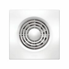 HPM EF100SQSWE EXHAUST FAN KIT Strong Air Extraction Slimline White 100mm-SQUARE