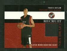 TRAVIS OUTLAW 03-04 TOPPS PRISTINE NBA DRAFT RECRUIT PLAYER WORN SHOOTING SHIRT