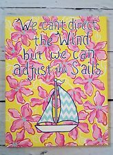 Inspirational Nautical Sailboat Quote Lilly Pulitzer Inspired Wall Art Decor