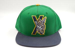 "10.Deep ""Rebels"" Green, Yellow, Navy Snapback Hat"