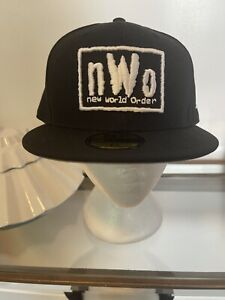 WWE NWO New World Order New Era 59Ffity Fitted Hat Size 7 5/8 Rare