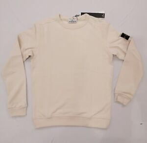 Stone Island Herren Sweatshirt mit Logo-Patch Baumwolle Beige Gr: XXL