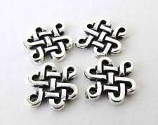 Eternity Link TierraCast Antiqued Silver Ox Celtic Knot Charm Connector Finding