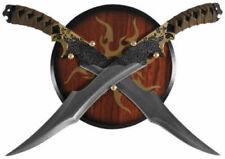 Legolas Elven Swords with Wooden Plaque Display Wall Hanger
