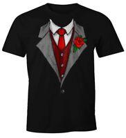 Herren T-Shirt Anzug Schlips Krawatte aufgedruckt Fun-Shirt Moonworks®