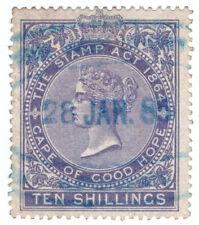 (I.B) Cape of Good Hope Revenue : Stamp Duty 10/- (1878)