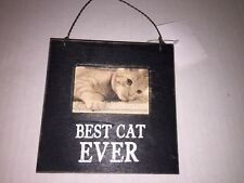 Christmas Best Cat Ever Hanging Ornament Magnetic Picture Photo Holder