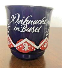 Vintage Christkindlesmarkt  Gluhwein Coffee Mug Christkindlt Basel Switzerland