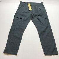 Prairie Underground Gray Organic Cotton Crop Capri Pants Sz M Lagenlook A733