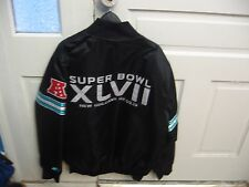 Nfl: Super Bowl Xlvii 47 New Orleans (Black Jacket by Starter (L) New w/tags