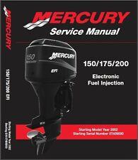 Mercury 150 / 175 / 200 EFI Outboard Motor Service Repair Manual CD
