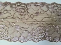 "New* 6.25""/16cm Stunning Mocha/coffee Stretch Galloon Lace Trim. Sewing/Lingerie"