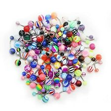 30 Pcs colourful beĺly bars body piercing button  ring navel Barbell jewelry