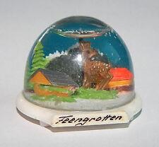 DDR-Schneekugel. Feengrotten (Saalfeld). DM-Zeit bis 1962