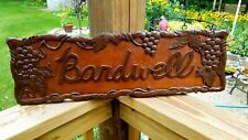 Personalized WOOD Sign Family Name Bardwell - Custom Made - Beautiful