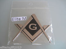 New Masonic Master Mason metal Chrome Cut out Car Auto Emblem:.